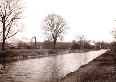 Village of Glenwillow Historical Photos - Canal with smoke